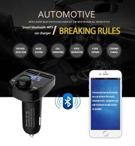 Kit de coche manos libres Transmisor FM 5V Dual multifunción USB Cargador Bluetooth MP3 Cargador de coche
