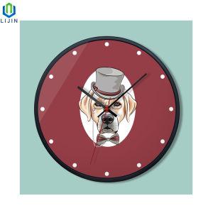 Reloj de pared creativo de dibujos animados, simple moda Hombre Reloj de pared para Salón
