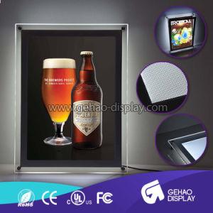 アクリルLEDのライトボックスを広告する水晶高品質