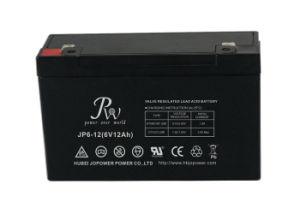 Batería recargable de plomo-ácido 6V12Ah con plástico ABS