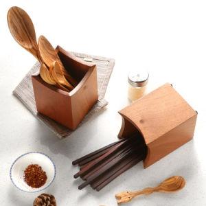 خشبيّة مطبخ أداة حامل وتخزين