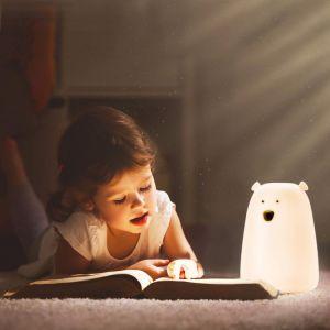 工場は高品質LED柔らかいシリコーンのシェルを持つ赤ん坊のための感動させる夜ライトをカスタマイズする