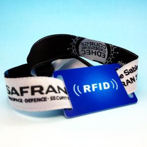 イベントのためのRFID NFCの祝祭によって編まれるリスト・ストラップをカスタム設計しなさい