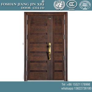 Portello interno del metallo dell'acciaio inossidabile doppio con vernice di legno