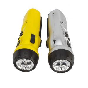 Классическая Динамо с другой стороны коленчатого вала светодиодный фонарик с FM-радио