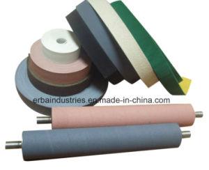 Rodillo de piezas de repuesto textil cubriendo la tira de goma