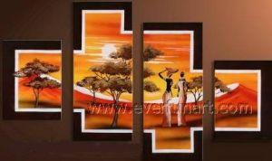 Olieverfschilderij van de Kunst van het Decor van het huis het Afrikaanse (AR-150)