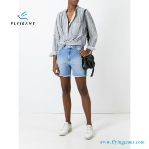 2017 donne/signore calde di modo di vendita cinque Shorts delle blue jeans delle caselle da Denim Factory