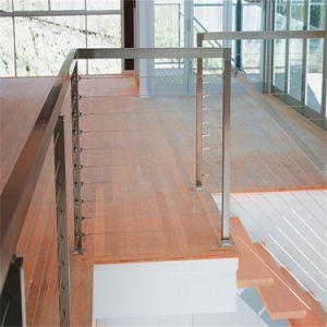 Opgezette bevloering en Traliewerk van de Kabel van het Roestvrij staal het Materiële voor het Traliewerk van het Balkon/van de Trede/van het Dek