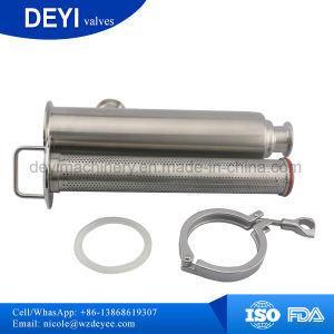 Dn50 de acero inoxidable SS304 Filtro de tamices recto pinza sanitaria