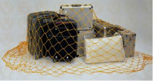 Hotel Luggage Packing (W-1)를 위한 황금 Nylon Luggage Net