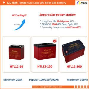 高品質の高温深いサイクルのゲル電池12V 100ah