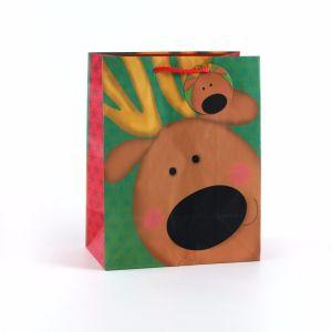 Sac de papier cadeau de Noël de Rennes, sac de papier personnalisé