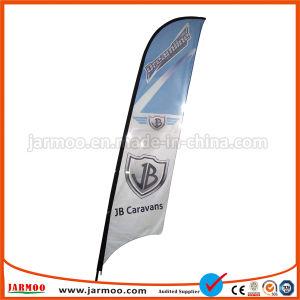 Soporte al aire libre viento volando la bandera con soporte