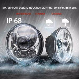 セリウムFCC HarleyのためのEmarkによって証明される5000lm極度の明るいHi/Loのビーム黒のSlivery 50W新しい点の自動車5.75  LEDのヘッドライト
