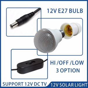 25W DC Hi Power Panel con bombilla LED de la luz solar