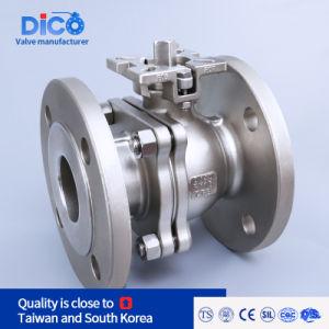 Торговая марка Dico Ss нержавеющая сталь ISO высокой платформе фланцевый шаровой клапан в корпус промышленного стандарта DIN PN40 2PC