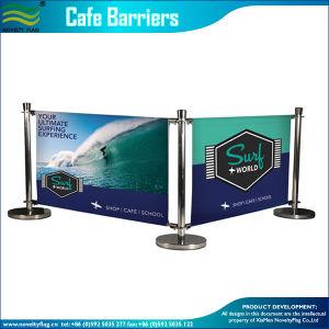 Реклама на открытом воздухе складной Windbreak кафе барьер (B-NF22M01108)