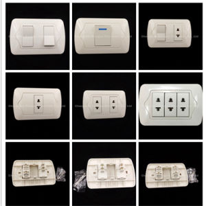 10A 250V de material de cobre de ABS 2way/interruptor de pared de 3 vías (UE-001-1)