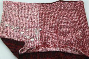 Knitted Burgandy Scarf Acessórios de moda Aquecedor de pescoço para meninas