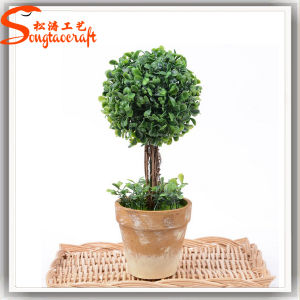 Ome decoração grossista bonita árvore Topiary Plástico Bonsai Artificial