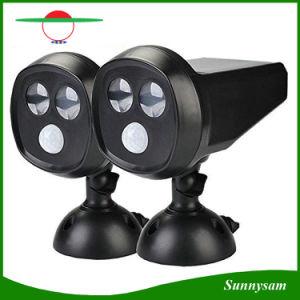 2つのLEDの修理可能なヘッド太陽動力を与えられた動きセンサーの壁ライト