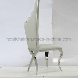 中国卸し売り新しいデザイン優雅の高い背皮のステンレス鋼の食堂の椅子