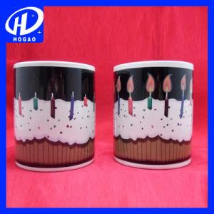 11oz磁器のバースデー・ケーキ印刷されたカラー変更のマグ