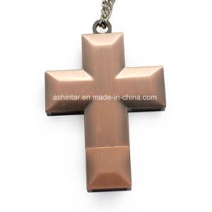 Azionamento trasversale dell'istantaneo del USB del USB Pendrive Jesus della collana del metallo