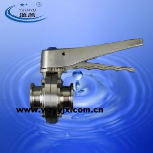 Triclamp 버터 플라이 밸브 위생 스테인레스 스틸