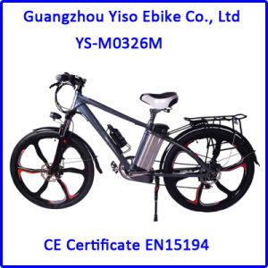 vélo de la montagne E de la batterie Li-ion 26inch avec des roues de magnésium
