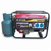 Portable et le gaz naturel/GPL Open-Frame générateur de ménage (KSG3000GPL)
