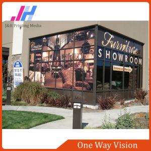 Publicidade a vinheta de vidro decoração janela Visão Unidirecional