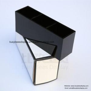 卸し売り明確なガラス質カラーアクリルの回転の構成の口紅のオルガナイザータワー