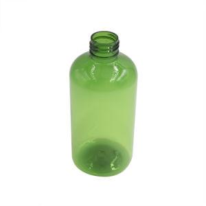 タケポンプスプレーヤーが付いている緑ペットプラスチックびん