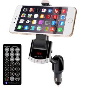 Coche Bluetooth V4.0 titular del teléfono inteligente 4Bt frecuencia FM con soporte para la función de memoria automática negro