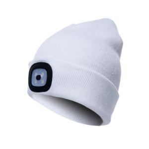 Аккумулятор USB СВЕТОДИОДНЫЙ ИНДИКАТОР 100% полиакрила Beanies Kintted зимой Red Hat лампа