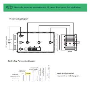 Fei, Motor de imán permanente 10kw3000r.p.m.60V para Van, Bus