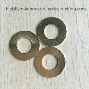 Rondelle plate en laiton personnalisée Forme ronde de la rondelle en cuivre