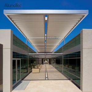 Алюминиевая крышка крыши жалюзи с фиксированной солнцезащитная шторка