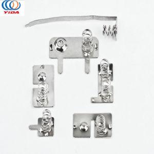 Contatto personalizzato della cassetta portabatterie della molla del contatto del metallo dei contatti della batteria di timbratura