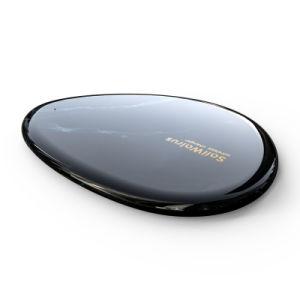 Nueva venida mejor precio disponible personalizada Qi teléfono móvil cargador inalámbrico Pad redondo para el iPhone