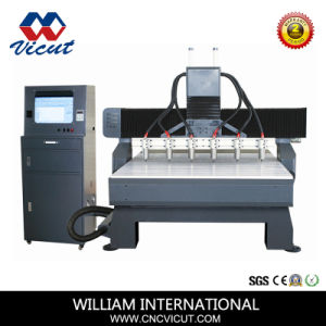 Tagliatrice di CNC dell'asse di rotazione di alta qualità 6 per falegnameria Vct-2013W-6h