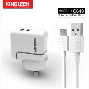 Модель C848 Двойной порт USB зарядное устройство подходит для микро кабель