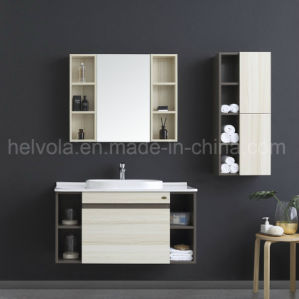 Gesundheitliche Ware-Wäsche-Bassin-Badezimmer-Schrank-Badezimmer-Eitelkeits-festes Holz u. MDF mit Spiegel-Badezimmer-Möbeln 2