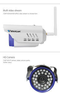 de OpenluchtIP van Kogel 720/1080P Draadloze Camera van de Veiligheid van het Netwerk Waterdichte