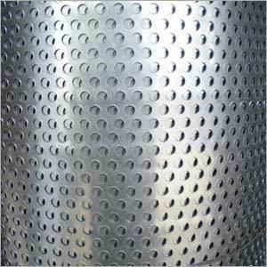 鉄の版の穴があいた金属の網
