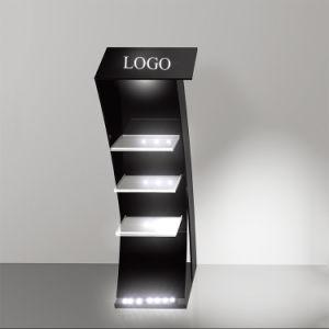 Expositor Stand cosmético con luz LED Shelfwith acrílico transparente