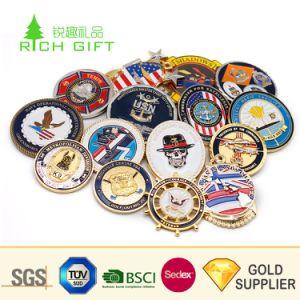 Logotipo personalizado do fabricante Loja Ouro comemorativas Silver Antique Bronze Esmalte Programável Liga de zinco 3D militares da Marinha Desafio de Metal Coin para Oferta Promocional