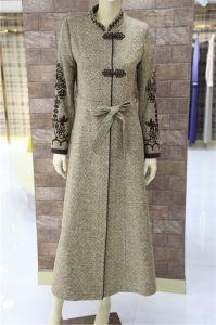 As mulheres muçulmanas camada final longo veste casacos de Lã Kaftan Marroquino